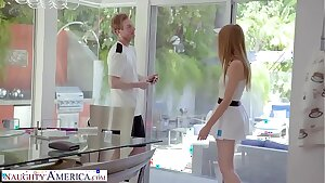 Naughty America - Tennis lecturer gets fortunate and fucks his client, Ashley Lane