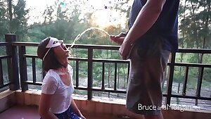 Bruce and Morgan - Public Piss Swallowing Compilation