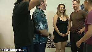Hot BBW Girl Gets DP Gangbanged With Her Bisexual BFF