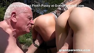 Rejuvenating Grandpa's Worn Out Cock with Grandma