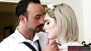 Cheating husband plumbs trans housekeeper Ella Hollywood