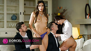 Indecent fourway with Clea Gaultier and Katy Rose