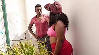 Unfaithful black wife sucks neighbor's BBC