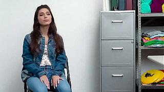 Hot shoplifter teen Gianna Gem screws