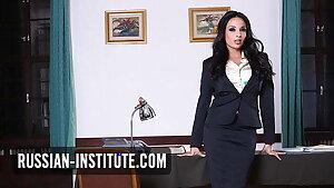 Busty big hooters teacher Anissa Kate needs anal sex