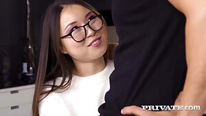Private.com - Luscious Oriental Yiming Curiosity Gets DICK!