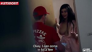 LETSDOEIT - Pizza Delivery Guy Gets Lucky With His Fave Pornstar