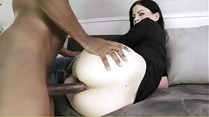 Gorgeous Blonde with Big Tits from Snapchat Gets Fucked by Her First Dark-hued Boy
