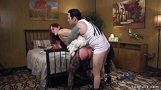Meaty ass slut loves rough anal sex