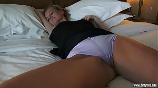 Wild fuck with sleeping Mom